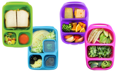 goodbyn lunch boxes filled with food for kindy