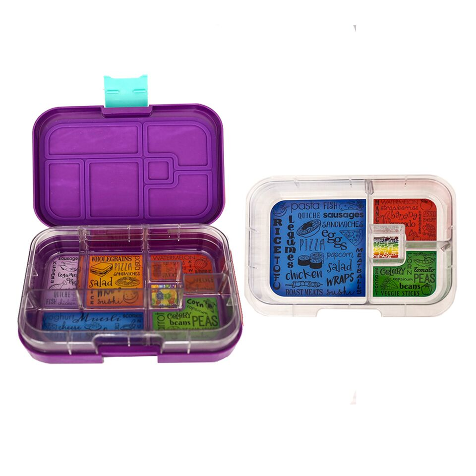 Munch Box Mix and Match Purple Peacock lunch box