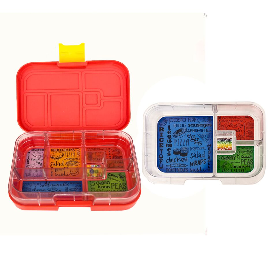 Munch Box Mix and Match Red Lava lunch box