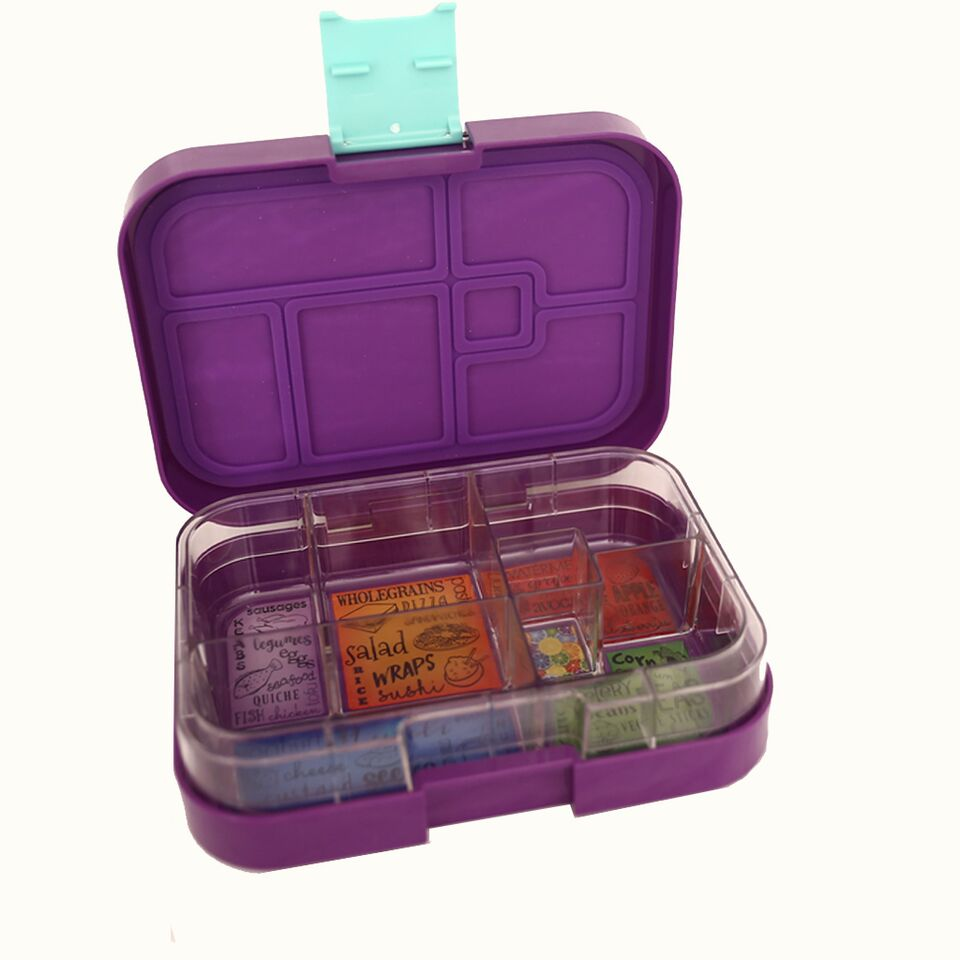 Munch Box Maxi6 Purple Peacock lunch box
