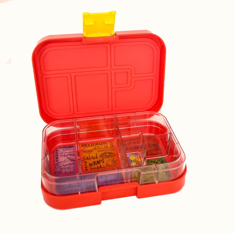 Munch Box Maxi6 Red Lava lunch box