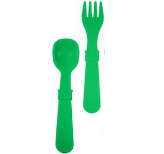 Replay Kelly Green Fork and Spoon